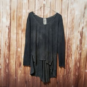 Free People High Low Distressee Tunic